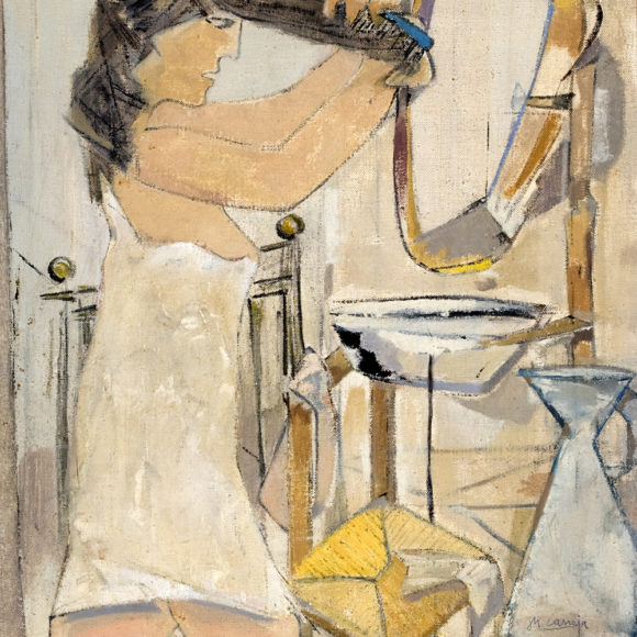 Mujer peinándose, 1950